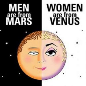 Men are from Mars, and Women from Venius.